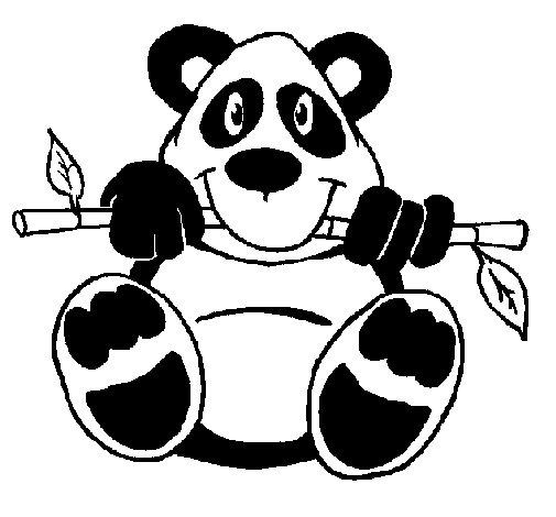 Dibujo de Oso panda para Colorear - Dibujos.net