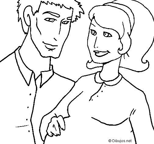 Dibujo de Padre y madre para Colorear
