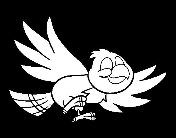 Dibujo de Pjaro volando para Colorear  Dibujosnet
