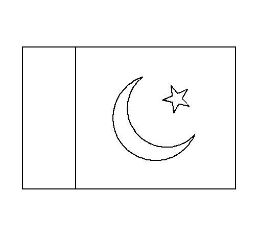 Dibujo de Pakistán para Colorear