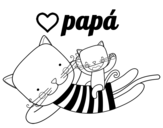 Dibujo de Papá gato para colorear