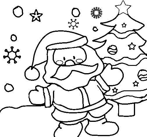 Dibujo de Papá Noel 1 para Colorear