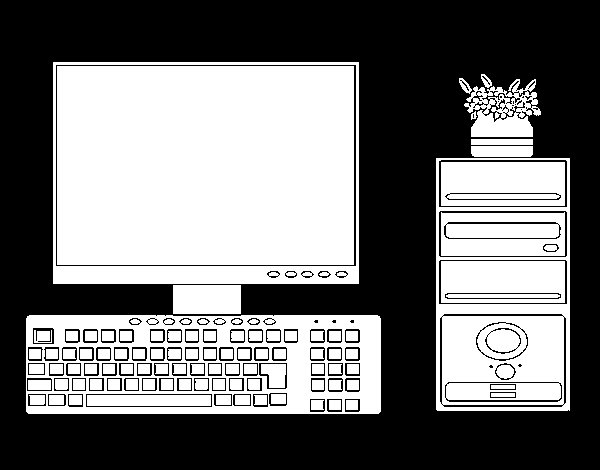 Dibujo de PC para Colorear