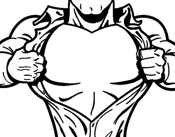 Dibujo de Pecho de superhéroe para Colorear