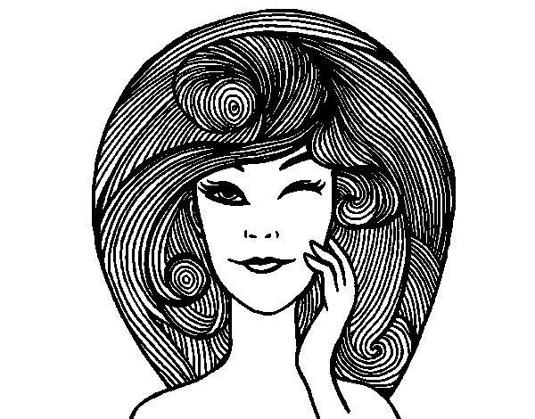 Dibujo de Peinado con volumen para Colorear