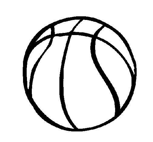 Dibujo de Pelota de básquet para Colorear