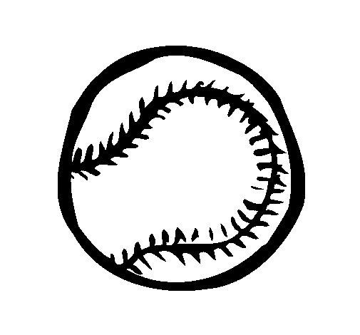 Dibujo de Pelota de béisbol para Colorear