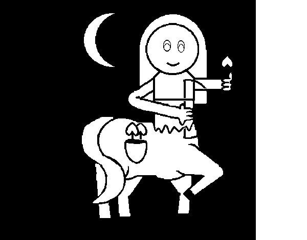 Dibujo de Pequeño Centauro para Colorear