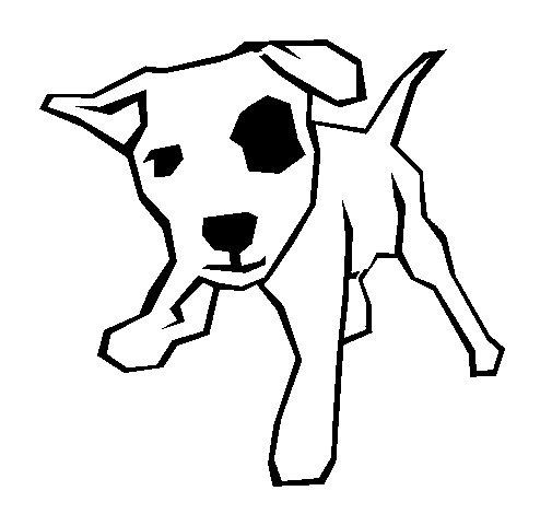 Dibujo de Perrito con una mancha en el ojo para Colorear  Dibujosnet