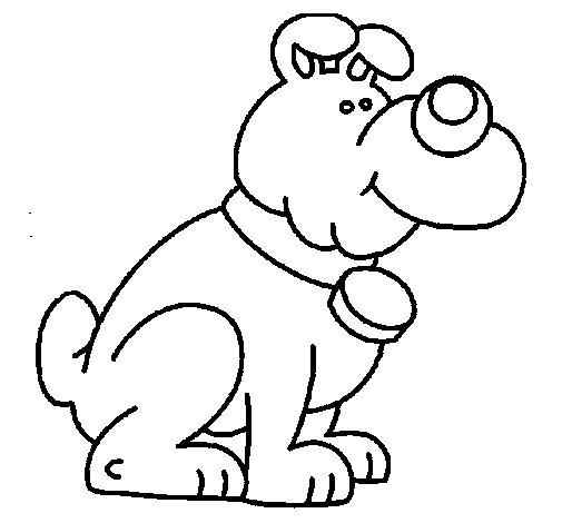 Dibujo de Perro 10a para Colorear - Dibujos.net