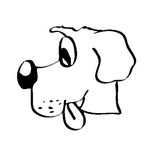Dibujo de Perro con la lengua fuera para Colorear