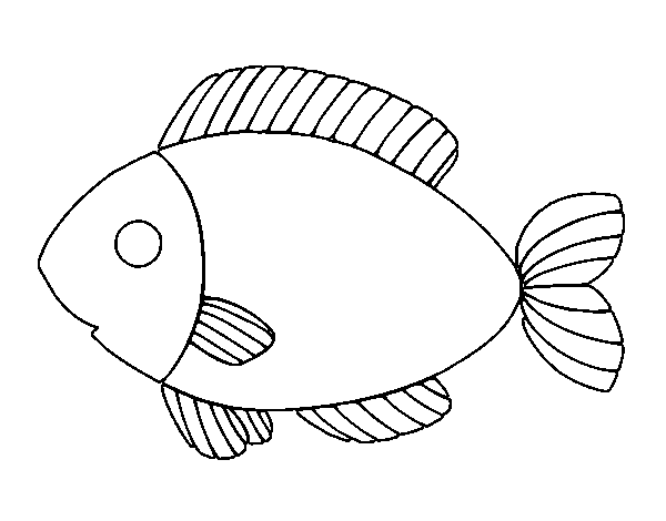 Dibujo de Pescado para Colorear - Dibujos.net