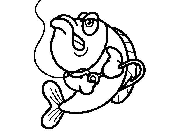 Dibujo de Pez enfadado para Colorear