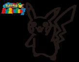 Dibujo de Pikachu saludando para colorear
