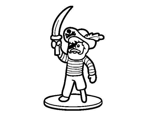 Dibujo de Pirata de juguete para Colorear