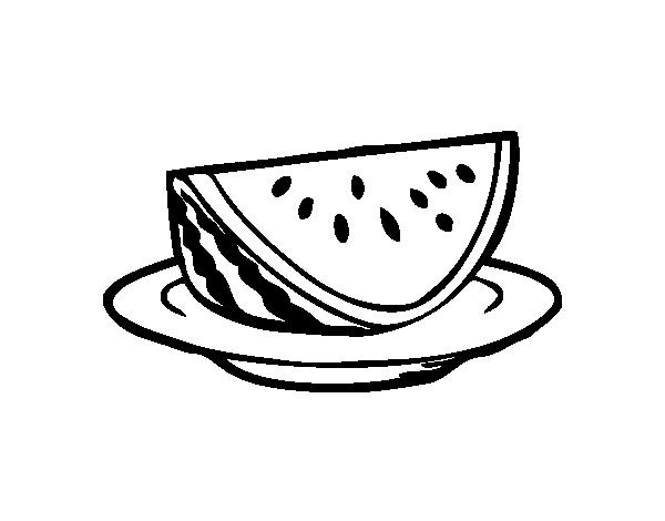 Dibujo de Plato de sanda para Colorear  Dibujosnet