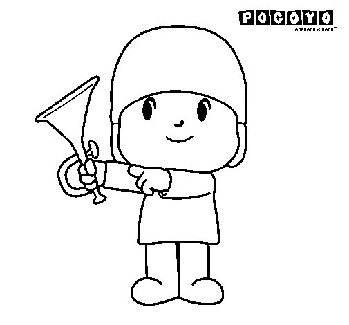 Dibujo de Pocoyó para Colorear - Dibujos.net