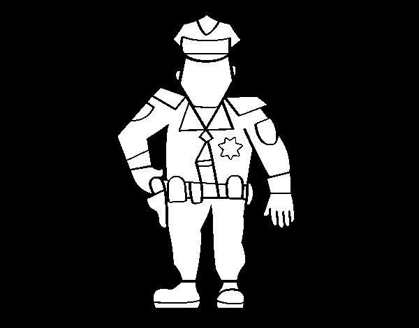 Dibujo de Polica Municipal para Colorear  Dibujosnet