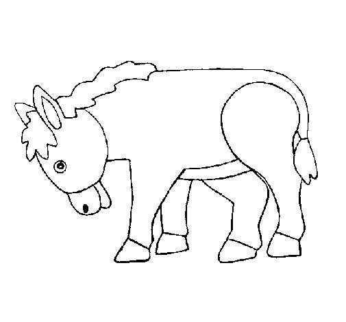 Dibujo de Poni para Colorear
