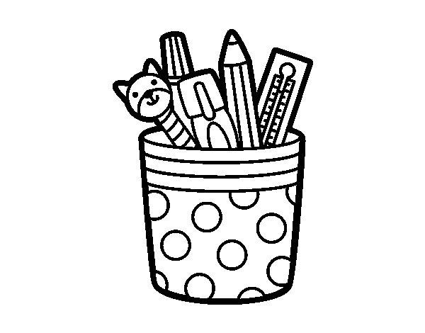 Dibujo de Portalápices para Colorear
