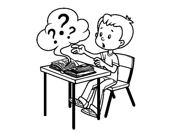 Dibujo de Preguntas de colegio para Colorear