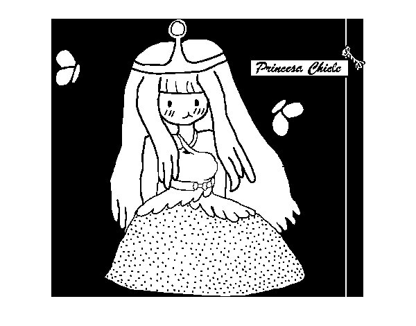 Dibujo de Princesa chicle para Colorear
