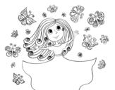 Dibujo de Princesa de las mariposas para colorear