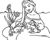 Dibujo de Princesa del bosque para colorear
