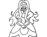Dibujo de Princesa fea para colorear
