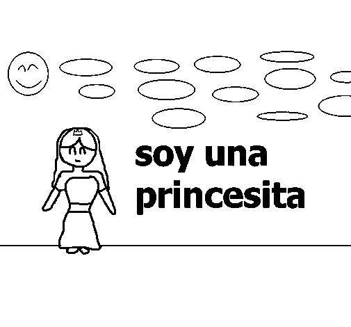 Dibujo de Princesa joven 1 para Colorear