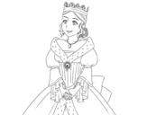 Dibujo de Princesa medieval para colorear