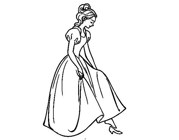 Dibujo de Princesa y zapato para Colorear  Dibujosnet