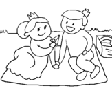 Dibujo de Príncipes de picnic para colorear