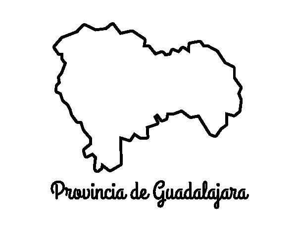 Dibujo de Provincia de Guadalajara para Colorear
