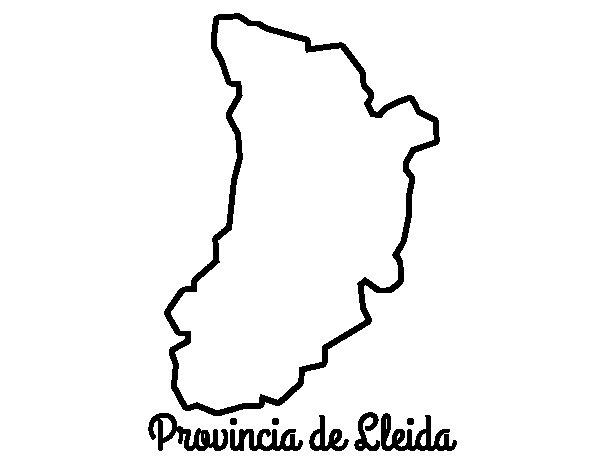 Dibujo de Provincia de Lleida para Colorear
