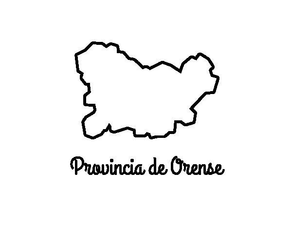 Dibujo de Provincia de Orense  para Colorear