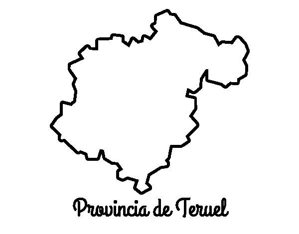 Dibujo de Provincia de Teruel para Colorear