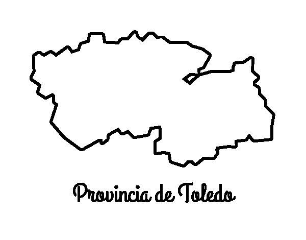 Dibujo de Provincia de Toledo para Colorear