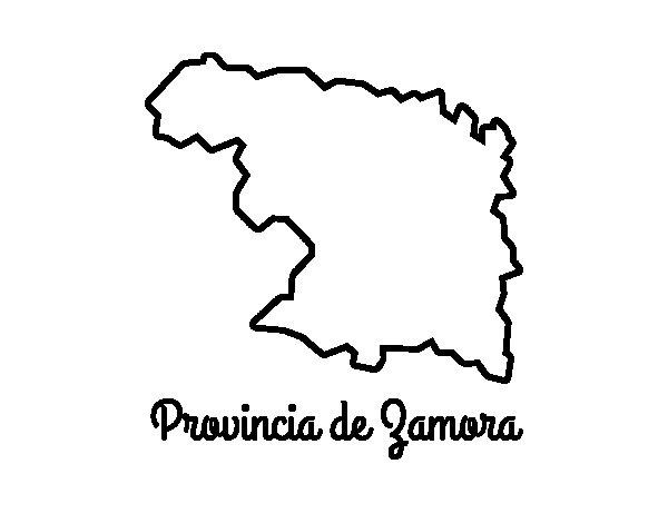 Dibujo de Provincia de Zamora para Colorear