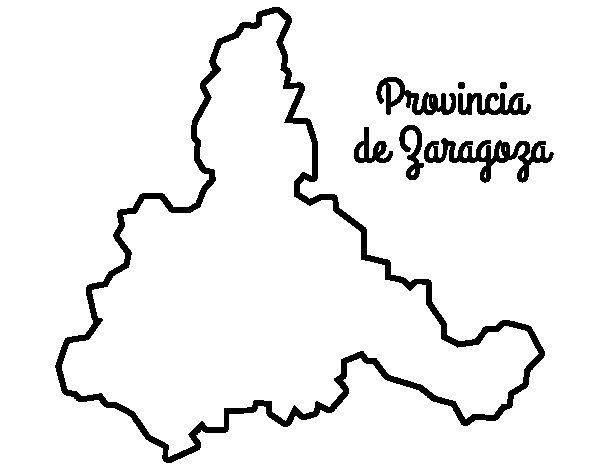Dibujo de Provincia de Zaragoza para Colorear