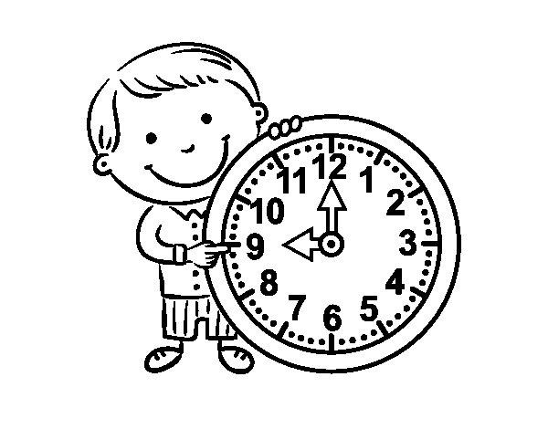 Dibujo de Qué hora es para Colorear
