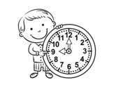 Dibujo de Qué hora es