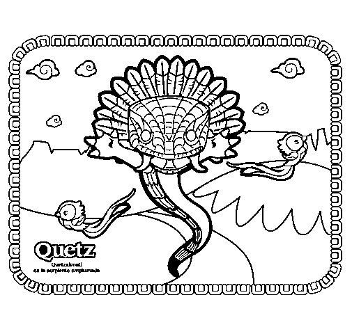 Dibujo de Quetz para Colorear