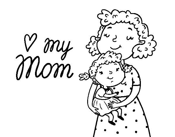 Dibujo de Quiero a mi mam para Colorear  Dibujosnet