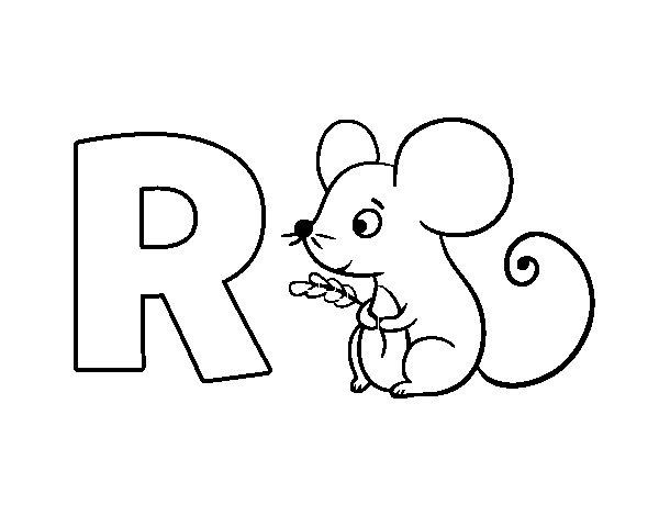 Dibujo de R de Ratón para Colorear