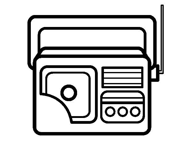 Dibujo de Radio antigua para Colorear