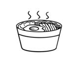 Dibujo de Ramen para colorear