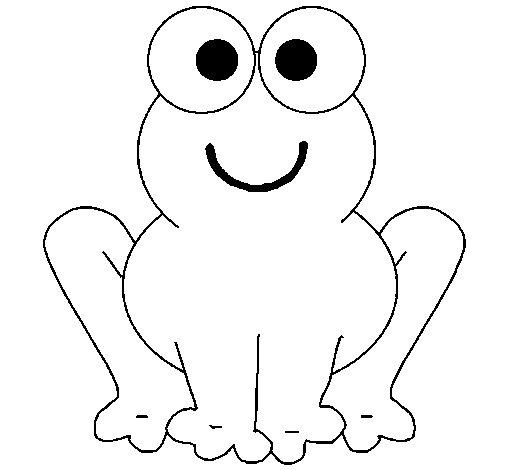 Dibujo de Rana sonriente para Colorear  Dibujosnet