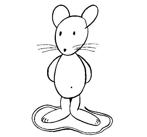 Dibujo de Rata de pie para Colorear