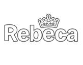 Dibujo de Rebeca para colorear